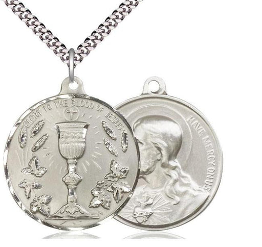 Sterling Silver Blessed Sacrament -Sacred Heart of Jesus Pendant