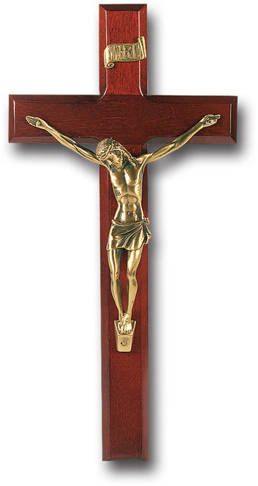 "12"" Walnut Cross and Crucifix"