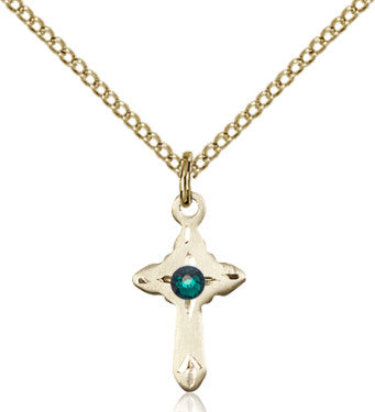emerald_cross_pendant_14_karat_gold_filled