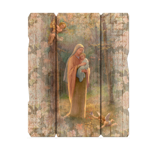 Madonna Of The Woods Vintage Plaque