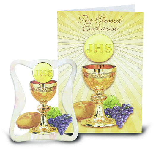 "Image of 4"" PEARLIZED COMMUNION PLAQUE"