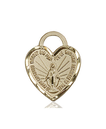 Image of Miraculous Heart Medal (14kt Gold)