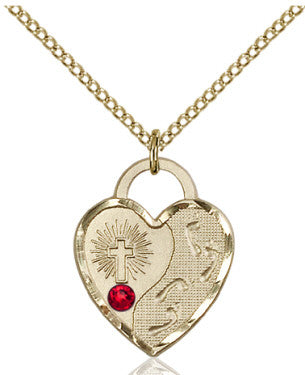 ruby_bead_footprints_heart_pendant