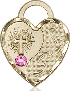 rose_bead_footprints_heart_medal_14kt_gold