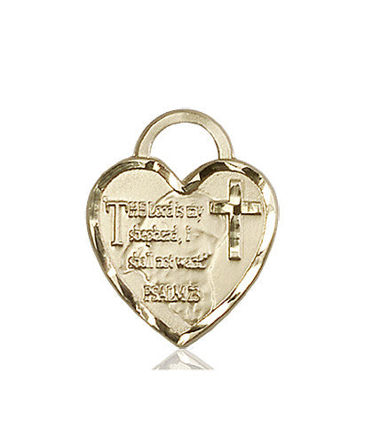 Image of Bridesmaid Heart Medal (14kt Gold)