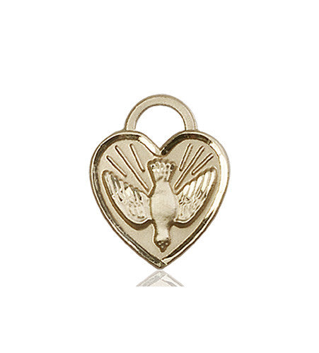 Image of Confirmation Heart Medal (14kt Gold)