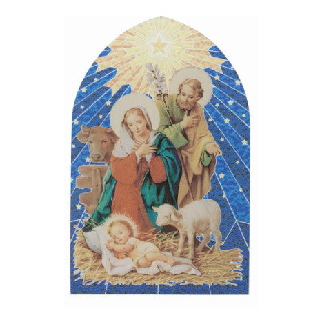 CHRISTMAS NATIVITY WITH LAMB MOSAIC ARCH