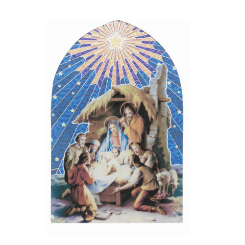 CHRISTMAS NATIVITY WITH MANGER MOSAIC ARCH