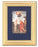 Baptism of Jesus Plaque on Blue Velvet Lining