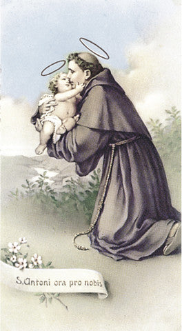 Image of ST ANTHONY OF PADUA HOLY CARD