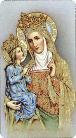 Image of ST. ANNE DEBEAUPRE HOLY CARD