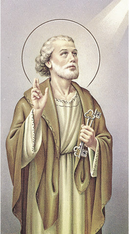 Image of ST PETER THE APOSTLE HOLY CARD