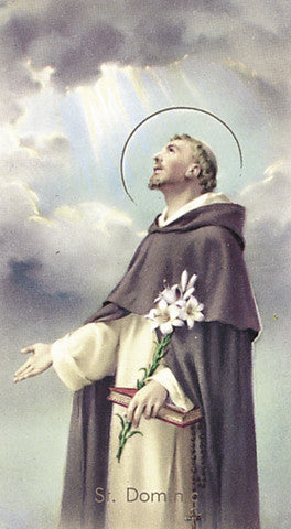 Image of ST DOMINIC HOLY CARD