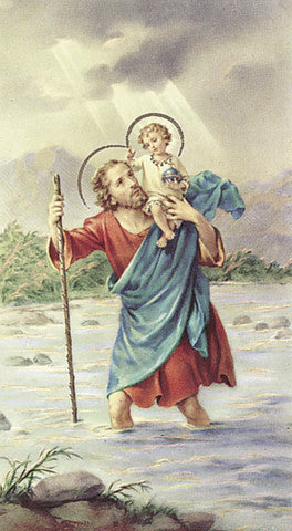 Image of ST CHRISTOPHER HOLY CARD