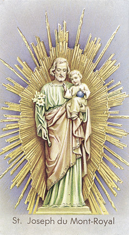 Image of ST JOSEPH MONT-ROYAL HOLY CARD