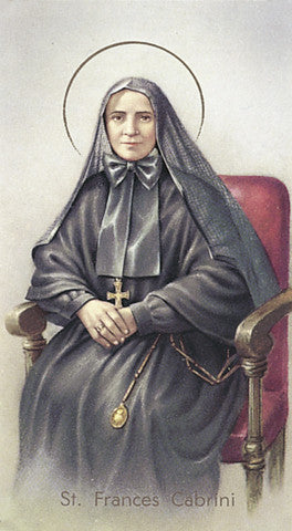 Image of ST FRANCES CABRINI HOLY CARD