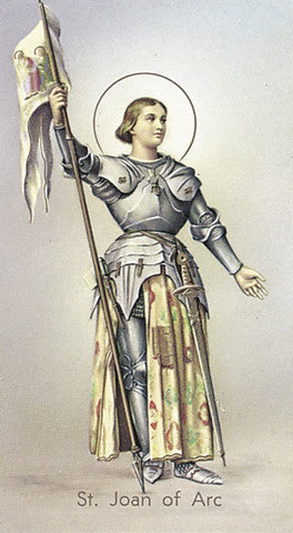 Image of ST JOAN OF ARC HOLY CARD