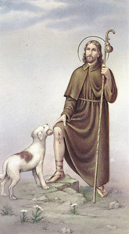 Image of ST ROQUE HOLY CARD