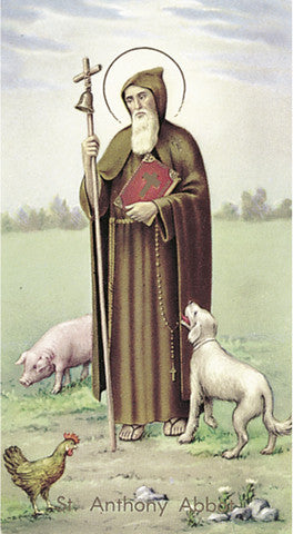 Image of ST ANTHONY ABBOTT HOLY CARD