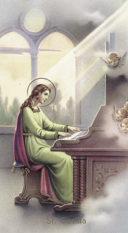 Image of ST CECILIA HOLY CARD