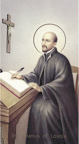 Image of ST IGNATIUS OF LOYOLA HOLY CARD