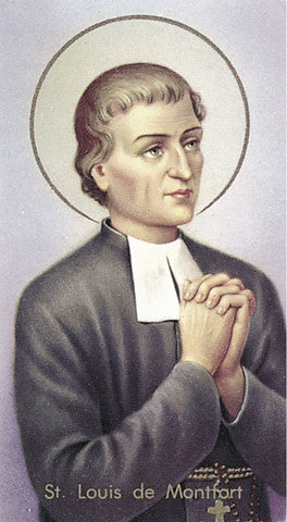 Image of ST LOUIS DE MONTFORT HOLY CARD