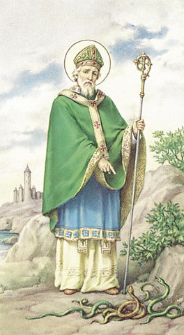Image of ST PATRICK PAPER HOLY CARD