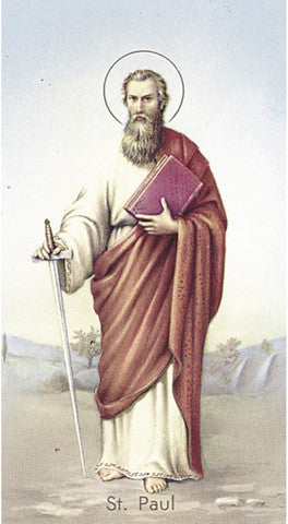 Image of ST PAUL HOLY CARD