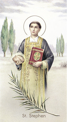 Image of ST STEPHEN HOLY CARD