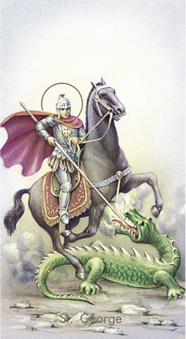 Image of ST GEORGE HOLY CARD
