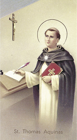 Image of ST THOMAS AQUINAS HOLY CARD