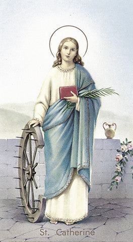 Image of ST CATHERINE HOLY CARD