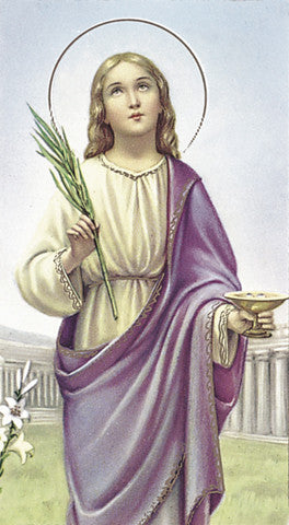 St Lucy Holy Card Free Ship 49 Catholic Online Shopping