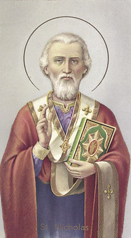 Image of ST NICHOLAS HOLY CARD