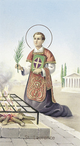 Image of ST LAWRENCE HOLY CARD