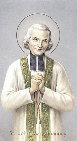 Image of ST JOHN MARY VIANNEY HOLY CARD