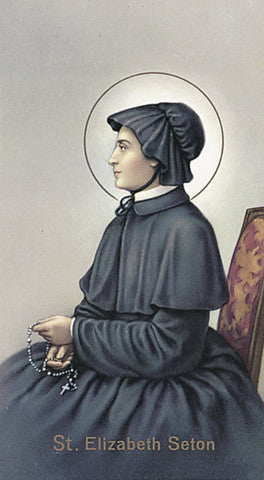 Image of ST ELIZABETH SETON HOLY CARD