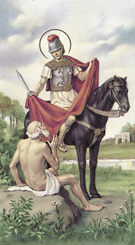 Image of ST MARTIN OF TOURS HOLY CARD