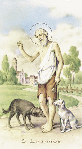Image of ST LAZARUS HOLY CARD