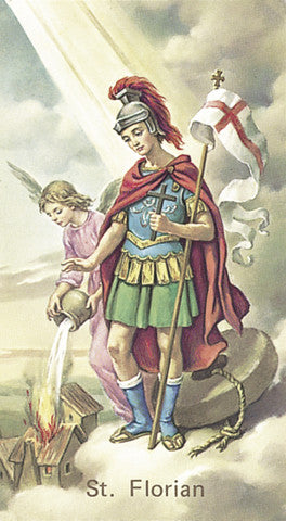 Image of ST FLORIAN HOLY CARD