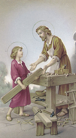 Image of ST JOSEPH THE WORKER HOLY CARD