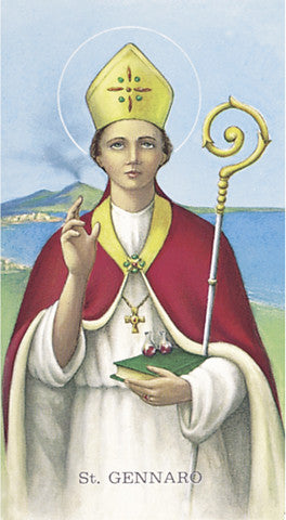 Image of ST GENNARO HOLY CARD