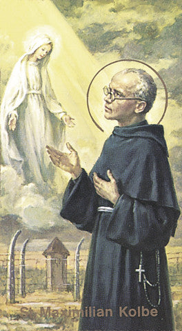 Image of ST MAXIMILIAN KOLBE HOLY CARD