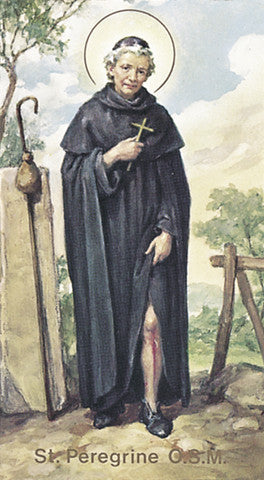 Image of ST PEREGRINE HOLY CARD