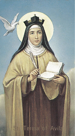 Image of ST TERESA OF AVILA HOLY CARD