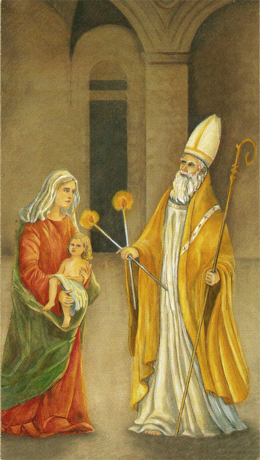 Image of ST. BLAISE HOLY CARD