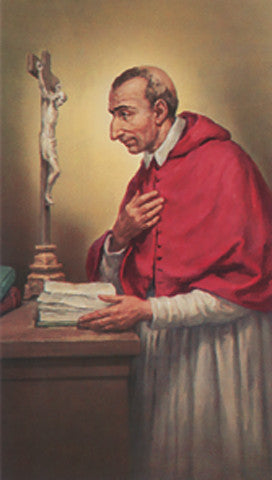 Image of ST.CHARLES BORROMEO HOLY CARD