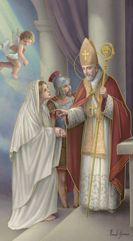 Image of ST VALENTINE HOLY CARD