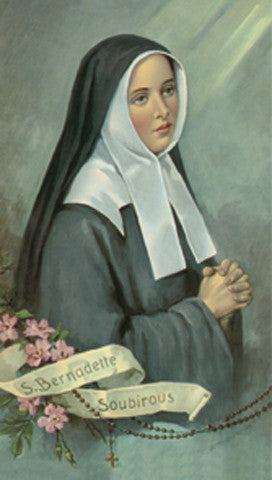 Image of ST.BERNADETTE HOLY CARD