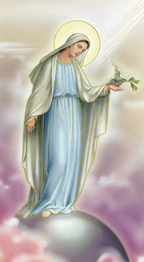 Image of OUR LADY OF PEACE HOLY CARD
